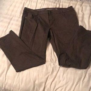 Sonoma slim strait brown pants 16 short